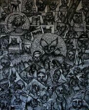 dessin original toile outsider art brut singulier