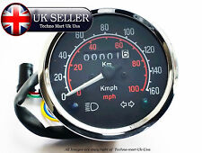 ROYAL ENFIELD BULLET MOTORBIKE SPEEDOMETER 0-160 Km/h - MILE BLACK DIAL FACE