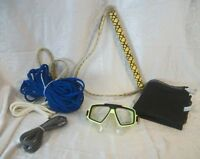 "Nice Straight Line Handle & 6.8Feet of Rope w/Goggles & 34"" x 22"" Mesh Bag"