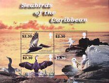 MONTSERRAT SEABIRDS STAMP SHEET 4V 2005 MNH CARIBBEAN SEABIRDS OCEAN LANDSCAPE