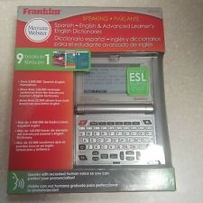 Franklin Bes-2150 Speaking Spanish-English Dictionary New Sealed See listing.