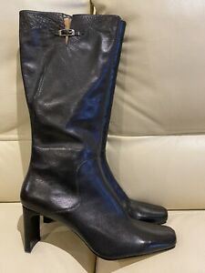 MICAM BOOTS SIZE 10 LIKE NEW BLACK LEATHER BRISTOL $229.95