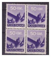 DEMOCRATICA 1946 - CENTESIMI  50  QUARTINA  NUOVA **