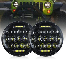 For Jeep JK TJ Suzuki Samurai 7inch LED Headlights Hi/Lo Beam DRL Moto Headlamp