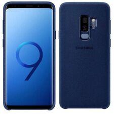 Samsung Alcantara étui ef-xg965aleg pour Galaxy S9 Plus g965f housse étui bleu