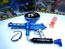 BLUE ZX9 SPIN FIRE ELECTRIC RAPID SHOT SOFT BALL TOY GUN REPEATING RIFLE RUBBER