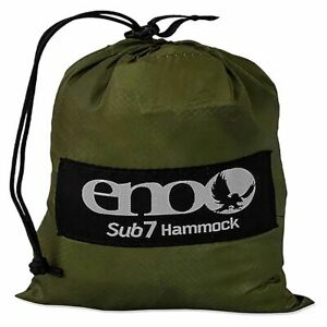 ENO Official Sub7 Lightweight 6.5oz Nylon Hammock Green Camping Hiking Brand New