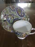 Vintage Rosina Chintz Floral Cup & Saucer England Bone China Free Shipping