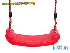SWING SEAT RED Plastic Set With Rope Accessories Playground  Outdoor Kids