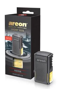 Areon Car Perfume Luxury & Elegant 0.27 oz Vent Clip Air Freshener, Silver