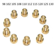 10X M6 Thread 6mm Motorcycle Main Jet Kit For Carburetor 98-130 Injector Nozzle