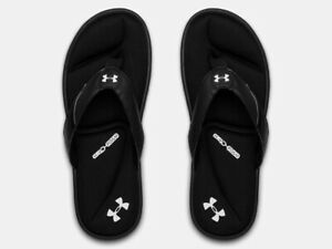 Under Armour Mens Ignite III Athletic Sandals Flip Flop - Black - New 2021