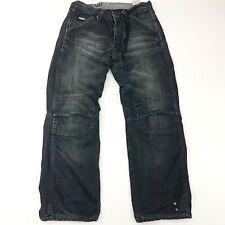 G-Star Raw 3301 Mens Jeans W31 L28 Dark Wash Regular Straight High Rise Buttons