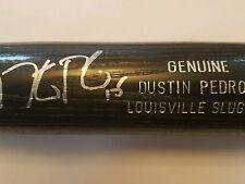 Dustin Pedroia Autographed Louisville  Slugger Black Bat MLB Hologram