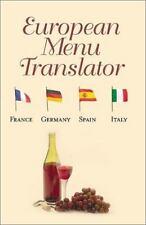 European Menu Translator