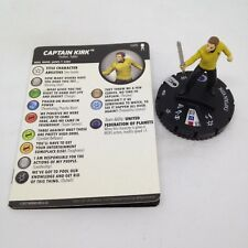 Heroclix Star Trek Away Team set Captain Kirk #026 Rare figure w/card!