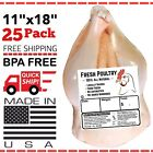 POULTRY SHRINK BAGS 11' X 18' POULTRY PROCESSING FREEZER SAVER MADE IN 🇺🇸
