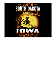 Just A South Dakota Witch In Iowa World Sticker - Landscape