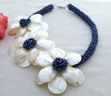 Amazing! Shell Flower&Crystal Necklace