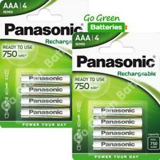 8 x Panasonic AAA 750 mAh Rechargeable Batteries RTU NiMH LR03 HR03 DC2400 Phone