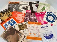Vintage 1960's Sheet Music Lot Pop Rock Beatles 4 Seasons Beach Boys Classics
