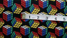 Rubik's Cube Fabric Rubik cube fat 1/4s 100% cotton Camelot