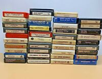 8 Track Tapes Lot of 38 Mixed Music.
