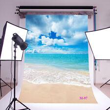 Beach Ocean Vinyl background Photography studio Photo Prop backdrop 5X7FT M-97