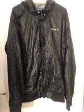 Adidas Hooded Jacket Medium All Black With Gold