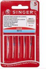 Aghi per macchina da cucire Singer 2020 per tessuti cotone n°90 conf. da 5pezzi