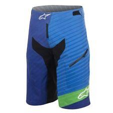 Alpinestars Mens Depth Cycling Shorts Royal Blue/Bright Green/Blue Size - 30