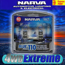 NARVA H3 BLUE +110% PLUS 110 HALOGEN HEADLAMP LIGHT BULBS GLOBES 48531BL2 +90