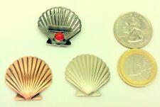☆ Micro Seashell Geocoin 3 coin set scallop sea shell unactivated