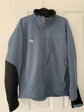 Mountain Hardwear Blue Softshell Jacket Hiking Outdoor Coat Mens Size XL