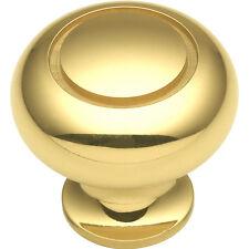 Hickory Hardware Period Brass 1-1/4'' Solid Brass Knob K19 Polished Brass NEW