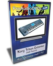 Korg Triton Extreme DVD Video Training Tutorial Manual