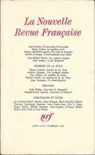 LA NOUVELLE REVUE FRANCAISE n° 236 . Aout 1972 .Georges De La Tour