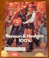 1973 BENSON & HEDGES CIGARETTE AD~HALLOWEEN~PIRATE COSTUME~HEADLESS PUMPKIN