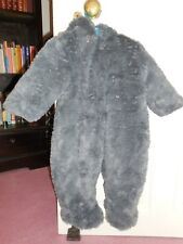 Mothercare fluffy grey pram/snow suit, 6-9 months