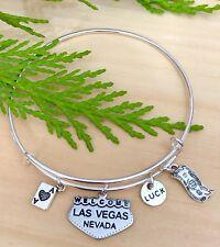 Las Vegas & Gambling charm Expandable Bangle Bracelet