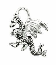 AVBeads Dragon Charms 21mm x 14mm Silver CHM15017 100pcs
