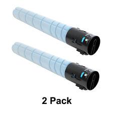 2 Pack Konica Minolta bizhub C658 C558 C458 Cyan Toner Cartridge TN-514C A9E8430