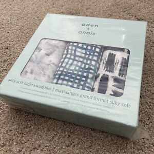 aden by aden + anais Silky Soft Swaddle Baby Blanket, 100% Cotton Bamboo Muslin,