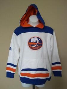 New- New York Islanders Youth Size M Medium White Majestic Hoodie