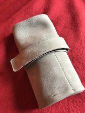 Watch holder for 6 pcs., handmade in soft nabuk, Made in Italy, ledertasche