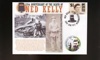 NED KELLY 125th ANNIVERSARY COVER, SERGEANT STEELE
