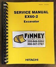 Hitachi EX60-2 Excavator Service Manual Shop Manual Book KM-102-E0-1 NEW