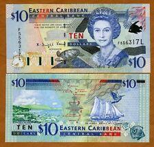 Eastern East Caribbean $10 (2000) St. Lucia, P-38L UNC