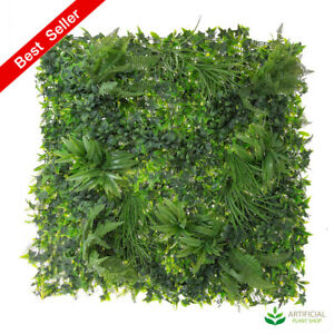 Artificial Fake Plants Variegated Vertical Wall Foliage 1m x 1m