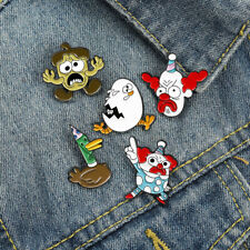 Cosmic Clown Brooch Cartoon Funny Cute Animal Duck Enamel Pin Lapel Badge Gift